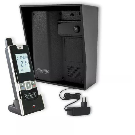 Interphone 600 mètres individuel sans-fil - UltraCOM2 NOIR 600-SOLO + visière noire + combiné + transformateur