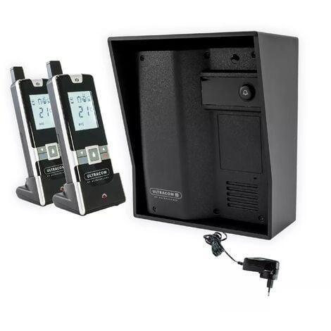 Interphone 600 mètres individuel sans-fil - UltraCOM2 NOIR 600-SOLO visière noire + transformateur + 2 combinés