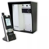 Interphone 600mètres autonome individuel sans-fil longue distance - UltraCOM2 ARGENTÉ 600-SOLO + visière noire + combiné