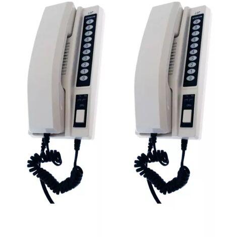 Interphone de bureau sans-fil 300 mètres nouvelle génération - 2 Stations d'appel