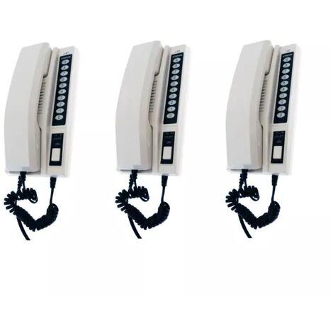 Interphone de bureau sans-fil 300 mètres nouvelle génération - 3 Stations d'appel