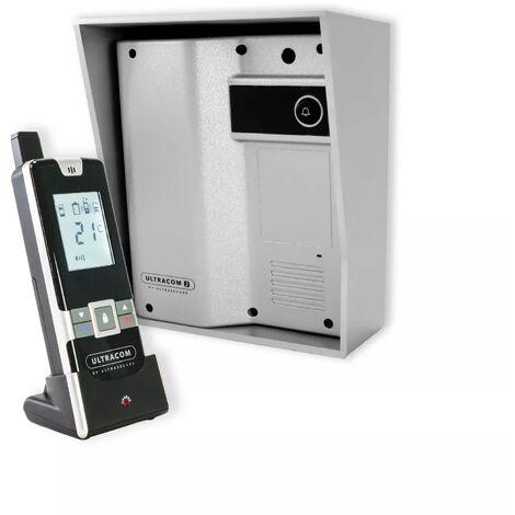 Interphone Drive - 100% sans-fil autonome sur piles 600m longue distance - UltraCOM2 Argenté 600-SOLO + combiné mobile