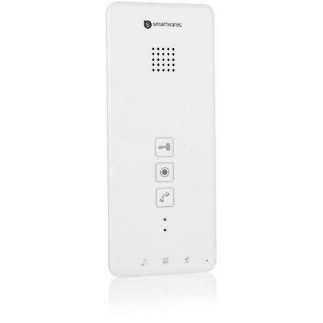 Interphone intérieur Smartwares DIC-21102 – 2 voies audio – Installation bifilaire facile – 52 mélodies – Extension pour votre interphone Smartwares DIC-211