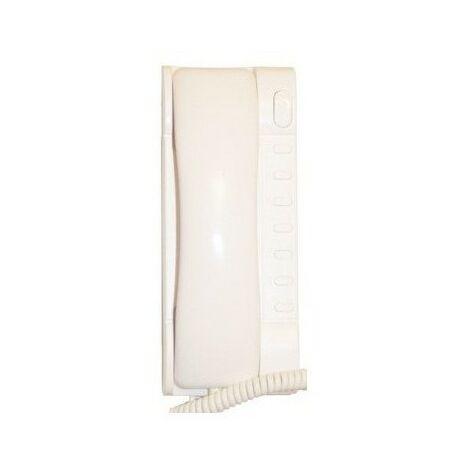 Interphone universel 2 fils Easy2Wire avec touche ouverture de porte - Blanc