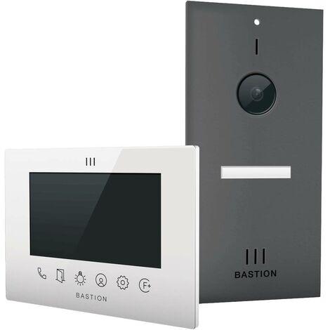 Interphone vidéo Bastion BA.KIT.UN.ANT.WHT BA.KIT.UN.ANT.WHT Ethernet Station extérieure, Station intérieure 1 foyer an