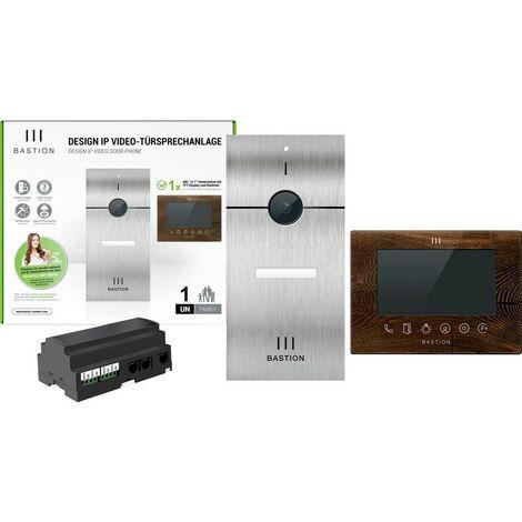 Interphone vidéo Bastion BA.KIT.UNLTD.INOX.WOT BA.KIT.UNLTD.INOX.WOT Ethernet Station extérieure, Station intérieure 1