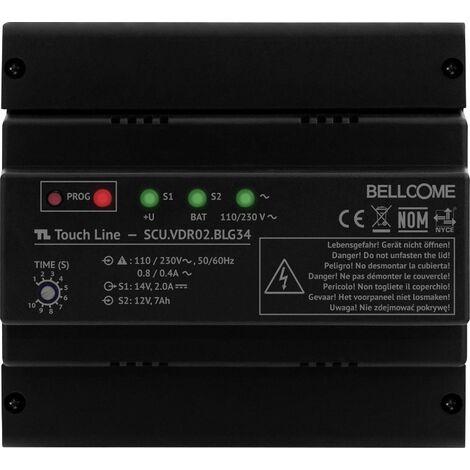 Interphone vidéo Bellcome SCU.VDR02.BLG34 filaire Alimentation pour rail DIN noir 1 pc(s) X766981