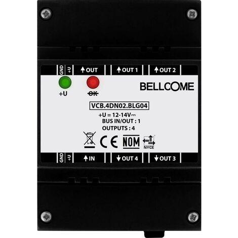 Interphone vidéo Bellcome VCB.4DN02.BLG04 filaire Boîtier répartiteur noir 1 pc(s)