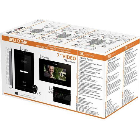 Interphone vidéo Bellcome VKM.P1FR.T7S4.BLB04 filaire Set complet 1 foyer noir 1 pc(s)