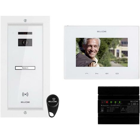 Interphone vidéo Bellcome VKM.P1FR.T7S4.BLW04 filaire Set complet 1 foyer blanc 1 pc(s)