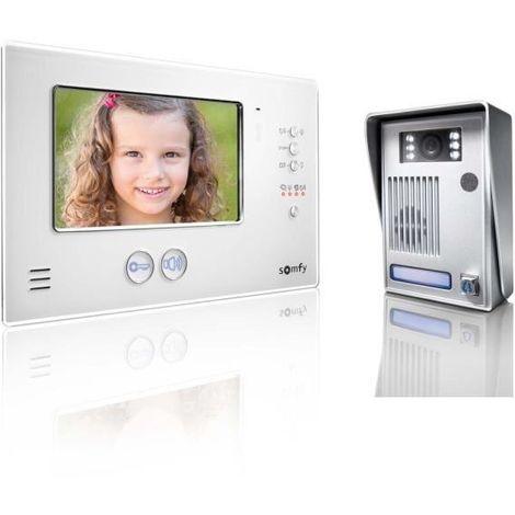 Interphone video couleur 2 fils avec ecran TFT 7 V200 blanc