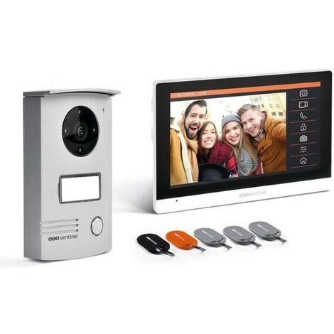 Interphone vidéo filaire avec badges Ecran tactile 7 - VisioDoor 7+ RFID