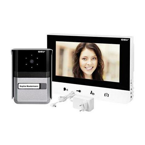 Interphone vidéo GEV Sophia 88665 filaire Set complet 1 foyer noir, blanc, anthracite 1 pc(s)