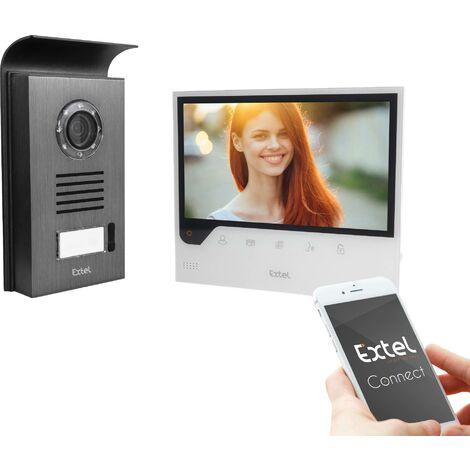 "main image of ""Interphone vidéo IP Extel 720308 Wi-Fi, 2 fils Set complet 1 foyer noir, blanc R025631"""