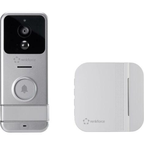 Interphone vidéo IP Renkforce RF-3206026 Wi-Fi, radio Set complet argent, blanc 1 pc(s) X727921