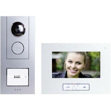 Interphone vidéo m-e modern-electronics VISTUS VD ALU-6710 S 41174 filaire argent 1 pc(s)