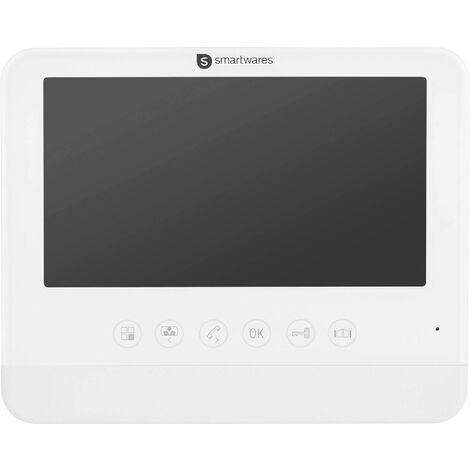Interphone vidéo Smartwares DIC-22202 DIC-22202 2 fils Station intérieure blanc 1 pc(s) X981281