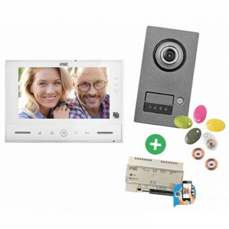 Interphone video URMET KIT NOTE 2 Callme - contrôle d'accès - 1723/71W
