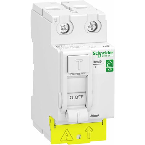 Interr. diff. Resi9 XP peignable - 2P 63A 30mA - Type A - Alim. Bas - Schneider Electric
