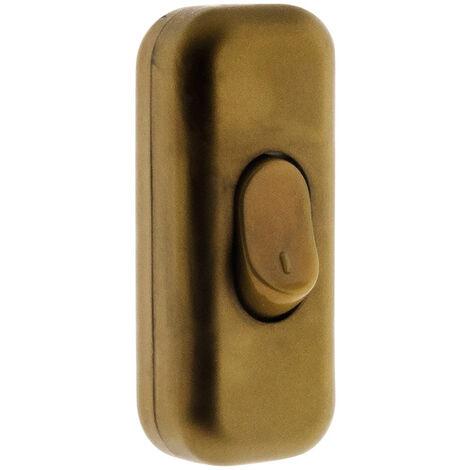 Interrupteur 2A Unipolaire Blanc, Noir, Marron ou Or
