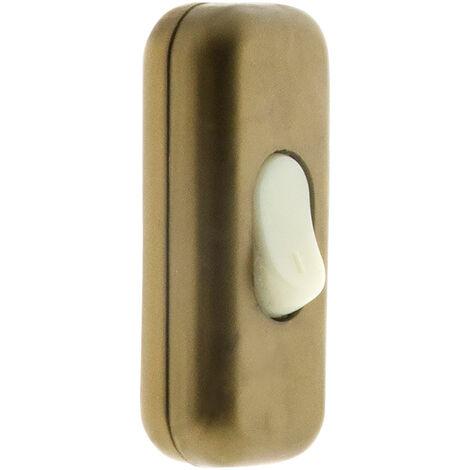 Interrupteur 2A Unipolaire Luminescent Blanc, Noir ou Or
