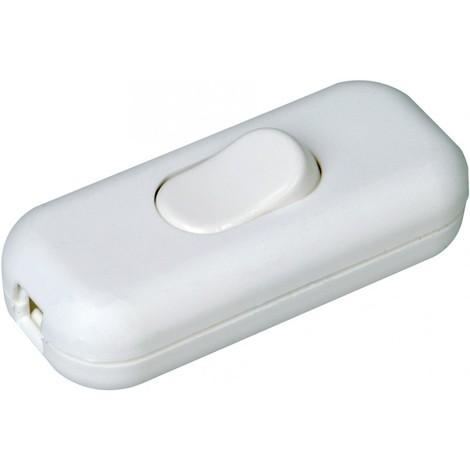 Interrupteur 2A250V, blanc SB