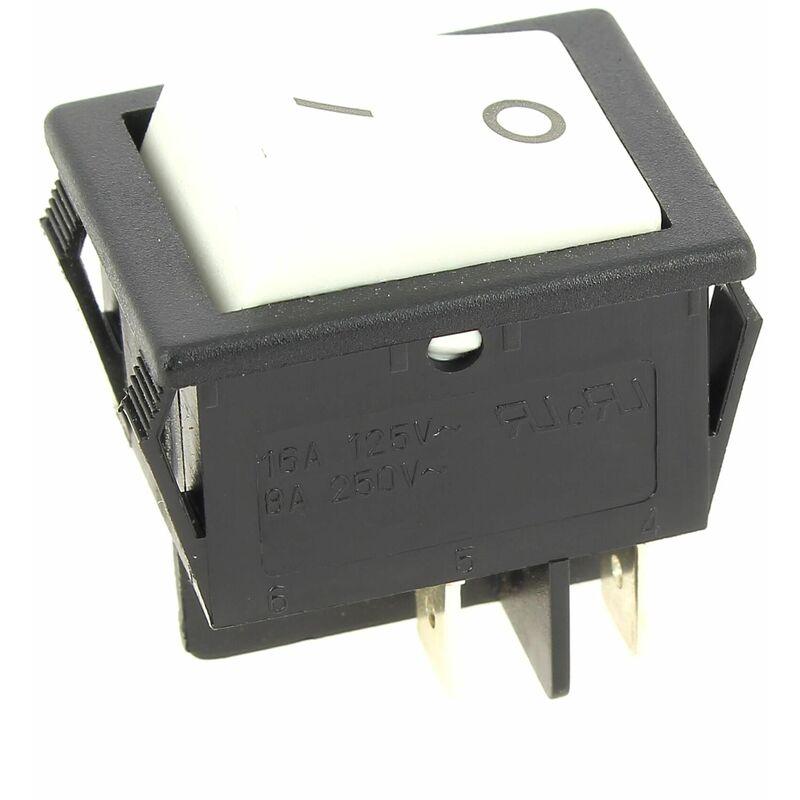 Interrupteur 4 cosses blanc pour Micro-ondes Whirlpool