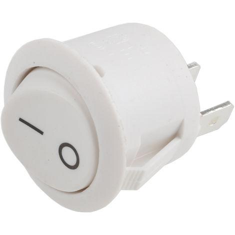 Interrupteur à bascule Blanc Unipolaire à une direction (1NO) On-Off momentané