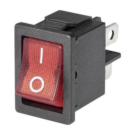 Interrupteur à bascule Mini-Wippenschalter MIRS-201C3 1xEin beleuchtet 1 pc(s)