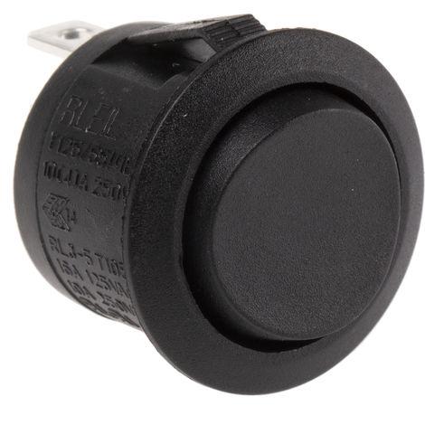 Interrupteur à bascule Noir Unipolaire à deux directions (1RT) MOM-OFF-MOM