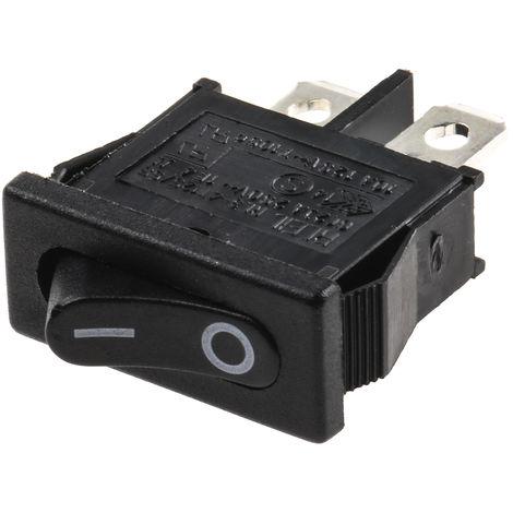 Interrupteur à bascule Noir Unipolaire à une direction (1NO) Verrouillable