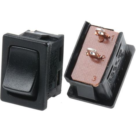 Interrupteur à bascule Non Noir Unipolaire à une direction (1NO) Verrouillable