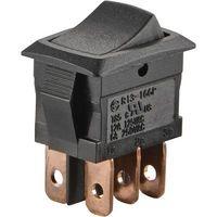 Interrupteur à bascule TRU COMPONENTS TC-R13-166PB-02 1587819 250 V/AC 6 A 2 x On/On à accrochage 1 pc(s)