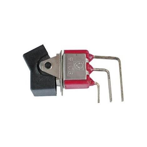 Interrupteur a bascule unipolaire vertical coude pour ci on-off-(on)