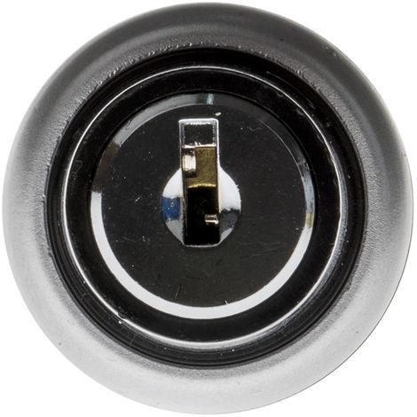 Interrupteur à clé 3 positions 1RT, Vis Plastique, 6 A 22.5mm IP65, Éclairage permanent 230V 2