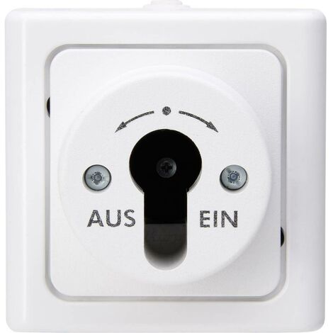Interrupteur à clé Kopp 561702018 BlueElectric blanc arctique
