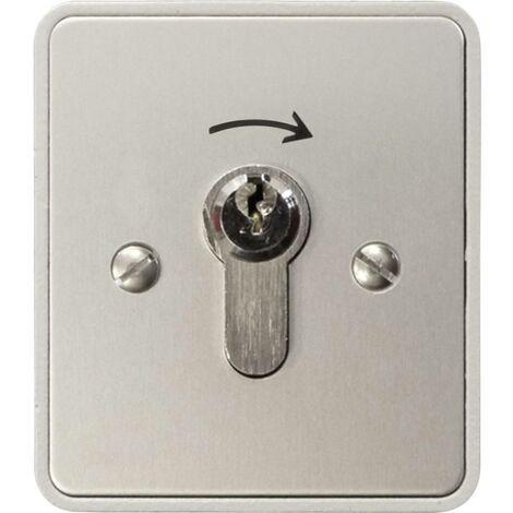 Interrupteur à clé pour motorisation de portail montage apparent (en saillie) Kaiser Nienhaus 322600