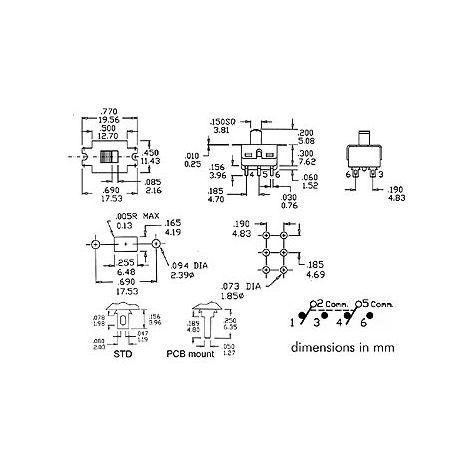 INTERRUPTEUR A GLISSIERE 2P ON-ON VELLEMAN TS-11