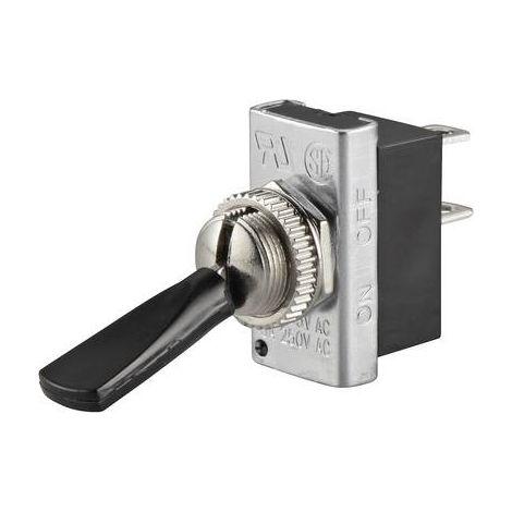 Interrupteur à levier 1 x Off/On TRU COMPONENTS TC-R13-25A1-05 1587668 250 V/AC 6 A à accrochage 1 pc(s)