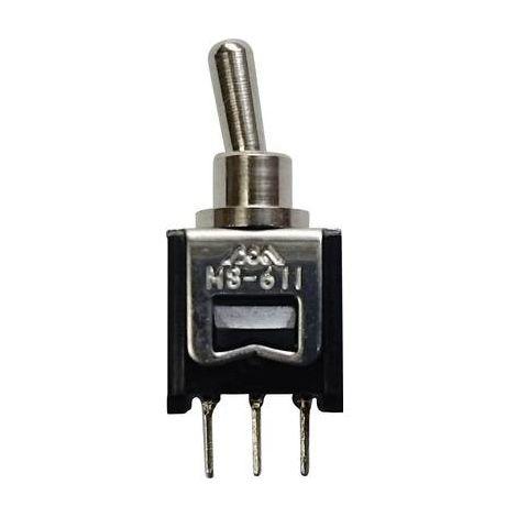Interrupteur à levier 250 V/AC 0.15 A 1 x On/On 611A permanent 1 pcs.