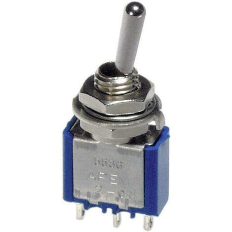 Interrupteur à levier 3 x On/On APEM 5556A 250 V/AC 3 A à accrochage 1 pc(s)