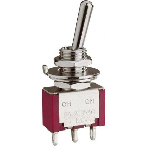 Interrupteur à levier 4 x On/Off/On Eledis 1A43-NF1STSE 250 V/AC 2 A permanent/0/permanent 1 pc(s)