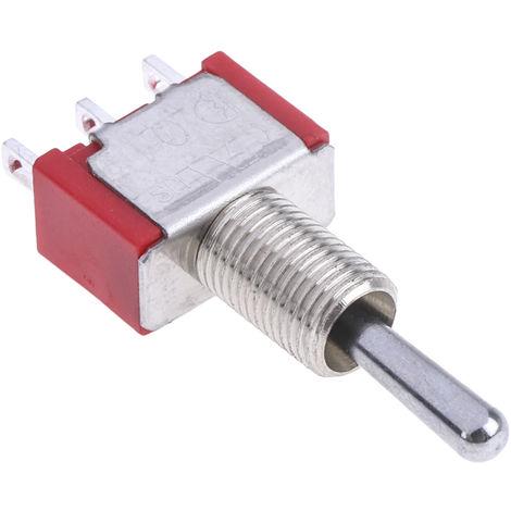 Interrupteur à levier, (On)-Off-(On), Unipolaire à deux directions (1RT), 5 A @ 250 V c.a.