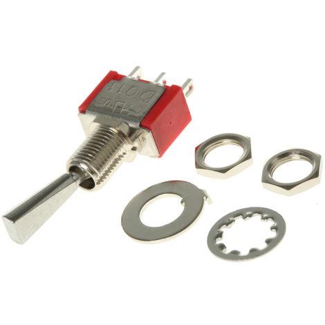 Interrupteur à levier, Verrouillable, Unipolaire à deux directions (1RT), 2 A @ 250 V c.a.
