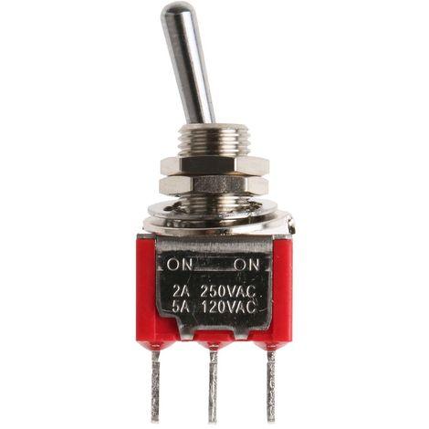 Interrupteur à levier, Verrouillable, Unipolaire à deux directions (1RT), 5 A @ 250 V c.a.