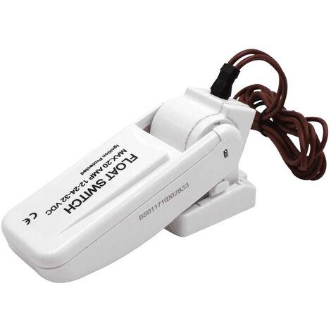Interrupteur aflotteur sans mercure Interrupteur de commande de pompe submersible Protection d'allumage Interrupteur aflotteur d'aquarium Interrupteur aflotteur Modele NMFS-20-01 blanc