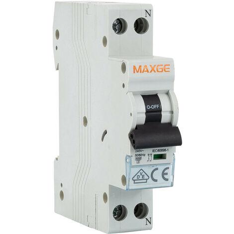 Interrupteur Automatique Étroit DPN Résidentiel 1P+N 10A Courbe C 6KA   IluminaShop
