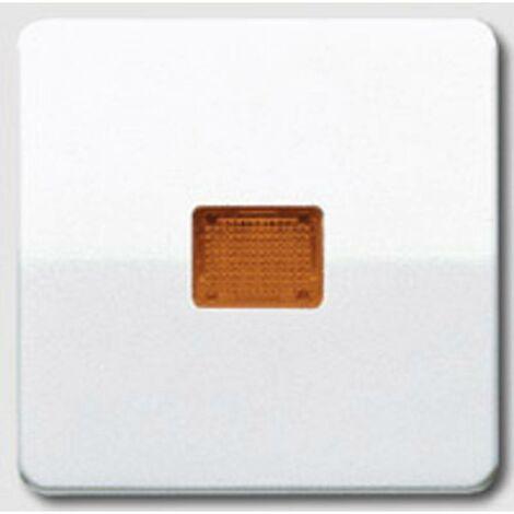 """main image of """"Interrupteur avec témoin lumineux, Bouton-poussoir avec témoins lumineux Jung CD590KOWW simple Cache blanc-alpin 1 pc(s"""""""