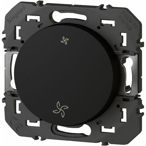 Interrupteur commande VMC - Dooxie - Noir - Legrand