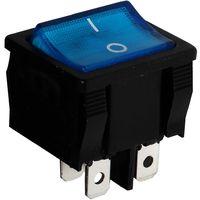 Interrupteur commutateur contacteur bouton à bascule bleu DPST ON-OFF 6A/250V 2 positions
